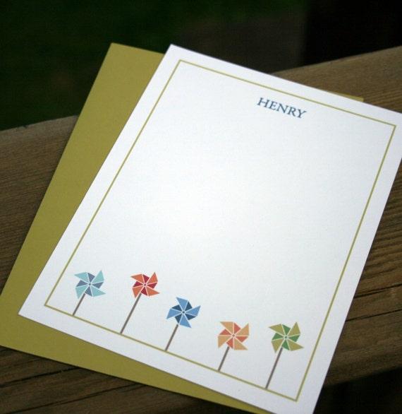 Pinwheel Flat Notecard