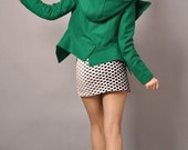 Reserved for miradamango SALE Ready to Dispatch Green Wool Hooded Puff Long Sleeves Winter Fashion Jacket Free Shipping International