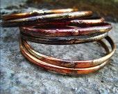 Sterling Silver & Copper Bangles