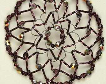 Handmade Amyethyst Crystal  Woman's Kippah