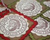 Vintage Santa Gift Tags - Do Not Open Til Christmas
