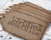 Gift Tags - Certified Homemade - Gift Labels - Homemade Labels