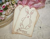 Spring Gift Tags -  Easter Blessings - Bunnies