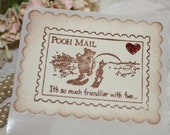 Handmade Sticker Seals - Pooh - Its So Much  Friendlier With Two