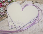Wish Tree Wedding Tags - Lilac Hearts - Set of 25