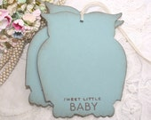 Baby Shower Wish Tree Tags  - Baby Boy - Blue Owls -  Set of 12