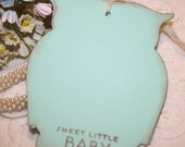 Baby Shower Wish Tree Tags  - Baby - Bright Blue Owls -  Set of 12