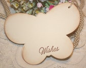 Baby Shower Wish Tree Tags - Ivory  Butterflies -  Birthday Wish Tags - Set of 12
