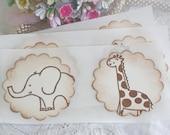 Stickers - Envelope Seals - Jungle Animals - Birthday - Baby Shower