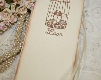 Wish Tree Wedding Tags - Vintage Birdcage - Love - Set of 25