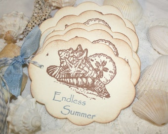 Beach Themed Gift Tags - Sea Shells - Endless Summer