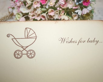 Baby Shower Wish Cards - Baby Carriage - Set of 12