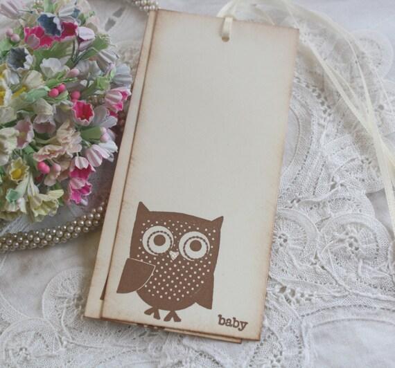 Baby Shower Wish Tree Tags - Owl - Baby - Birthday Wish Tags - Set of 12