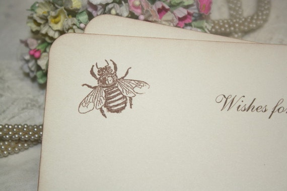 Baby Shower Wish Cards - Honey Bee - Neutral - Set of 12