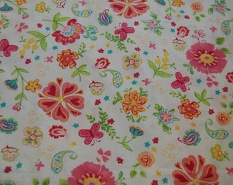 Pottery Barn Kids Garden Party Euro Floral Fabric 1 yard Boutique Kawaii