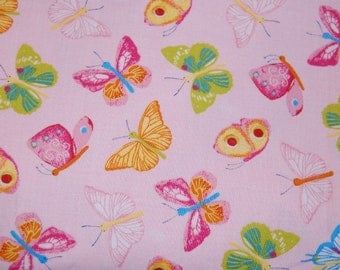 Euro Boutique Catimini Papillon Rainbow Butterfly Fabric 1 yard