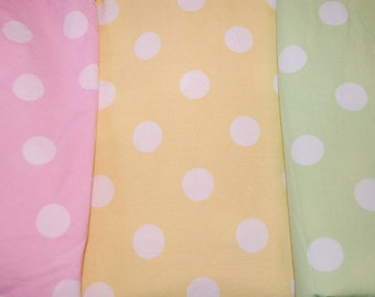 Boutique Euro Yellow Jumbo Polka Dot Fabric 1 yard