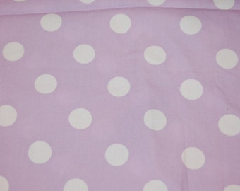 Boutique Euro Light Purple Jumbo Polka Dot Fabric 1 yard