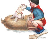 Superbaby Meets His Dog p...