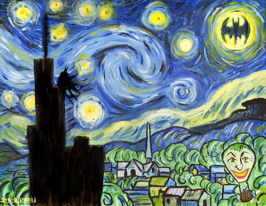 Joker Starry Night Painting For Sale