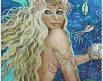 CLAUDIA Mermaid Cross Stitch Chart