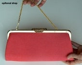 Vintage Pink and Gold Clutch Purse WAS18.00USD, NOW 13.50USD