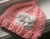 True Organic Newborn Hat in Strawberry Pink