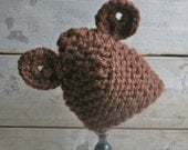 Baby Bear Hat in Chocolate Brown