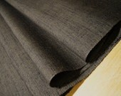 REMNANT Wool and silk japanese kimono fabric humble brown tsumugi weave 56cm or 22 inches