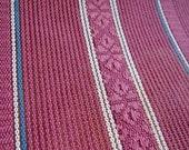 Cotton & linen japanese obi kimono fabric raspberry stripe vintage unused 50cm or 19.4 in length (3 lengths available)