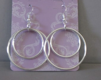 Classic Silver Colored Hoops Classic Silver Colored Hoops Classic Silver Colored Hoops Classic Silver Colored Hoops