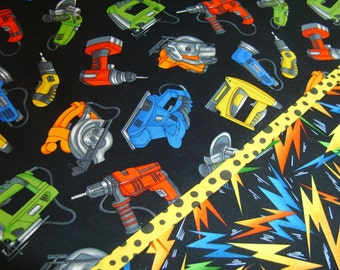 Power Tools Standard Pillowcase - drill, saw, sander