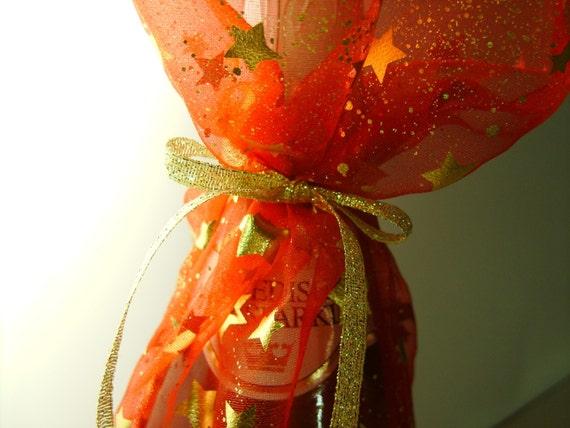 Shimmery Gold Wine Bottle Gift Bag