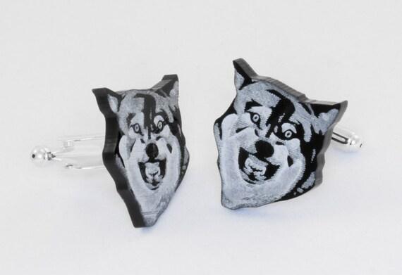 Courage Wolf Cufflinks