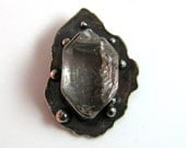 Herkimer Diamond Necklace Pendant granulated balls
