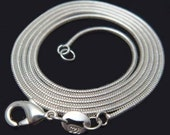 Supplies - Sterling Silver Snake Chain 20 inches - SALE