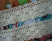 3  yards of natural color crochet trim lace