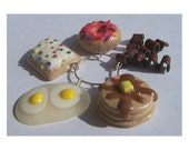 Breakfast Wine Charm Set FREE SHIPPING