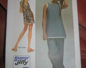 Simplicity 9427 Super Jiffy Beach Cover-up Tunic Pants Vintage Size 10 uncut sewing pattern