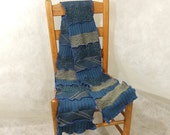 Mens scarf womens scarf, winter scarf, blue gray extra long