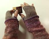 Pastel arm warmers, wrist warmers, fingerless gloves, arm warmers, pink, purple