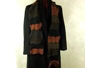 Brown Mens scarf, winter scarf, womens scarf, grandpa scarf, teen scarf