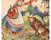 PRINT / Little Red Riding Hood/ 5x7