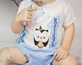 Shirt, Look Whoos One, Owl Boys First Birthday Personalized Shirt