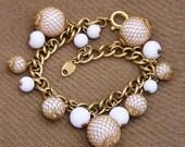 Trifari Gold Net Bracelet
