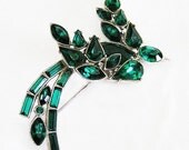 Ora Emerald Green Bird Figural Brooch