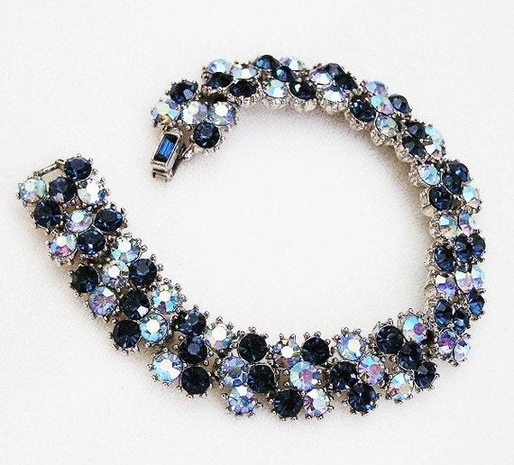 RESERVED Trifari Sapphire and AB Blue Bracelet