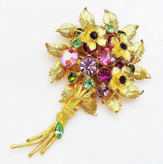 Graziano Signed Swarovski Crystal Flower