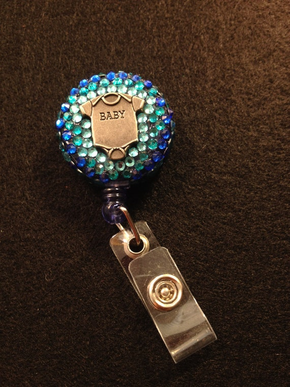 Pretty Blue Onesie Badge Holder