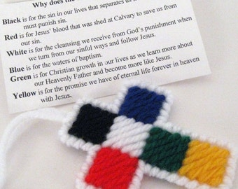 Salvation Pocket Purse Cross Baptism Christening Gift Easter Christmas Decoration
